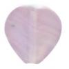 Glass Pressed Beads 10x10mm Heart Light Violet Matt